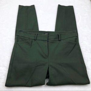 LOFT 'Marisa' green straight leg pants, 12T